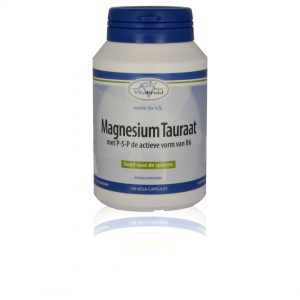 webshop supplementen Webshop Supplementen Magnesium Tauraat met p 5 p 100 vega capsules 300x300